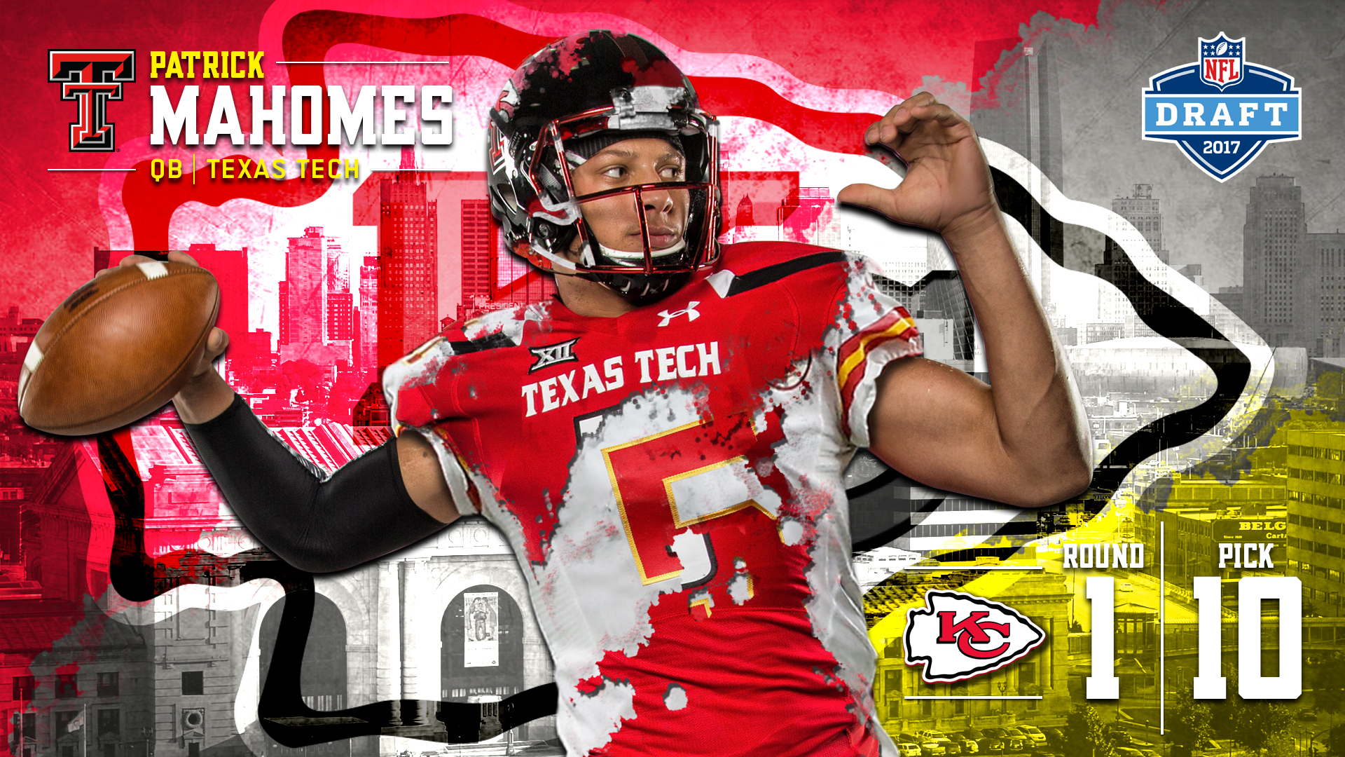 ... 15 Womens White Nike NFL Road Patrick Mahomes II is selected by the Kansas  City Chiefs with the 10th pick in the ... 00d3cd921